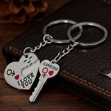 """1Pair Originality Metal Silver """"I LOVE YOU"""" Lover Keys Alloy Keychain Lover Gift"""