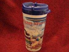 "Michigan Shore Thermal Mug Coffee Cup  Beach Scene  Sailboats Seagull 7"" MINTMin"