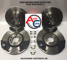 AUDI A5 2.0 TDI 09-12 DRILLED & GROOVED FRONT & REAR BRAKE DISCS AND PADS NEW