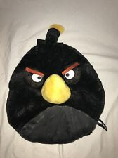 "ANGRY BIRDS BLACK BOMB PLUSH BACKPACK SOFT ROUND SCHOOL BACK PACK ROVIO 12"" *5*"