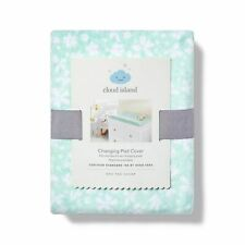 Changing Pad Cover Mint Ditsy - Cloud Island Blue Floral, Green ~ Nwt