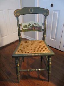 1976 Hitchcock Chair Ltd Edition President Jefferson Monticello Green Cane Seat