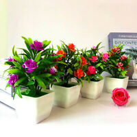 18CM Realistic Artificial Flowers Plant In Pot Outdoor Home Office Decor Gift* 1