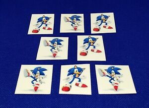 Sonic the Hedgehog Birthday Party Temporary Tattoos Set of 8 Goody Favors