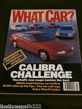 WHAT CAR? - VAUXHALL CALIBRA - JULY 1990