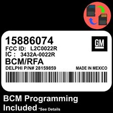 15886074 W/ PROGRAMMING 09 10 11 12 Colorado Canyon BCM BCU Body Control Module