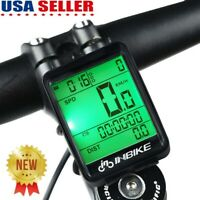 LCD Digital Bicycle Computer Bike Speedometer Odometer Wireless Waterproof US
