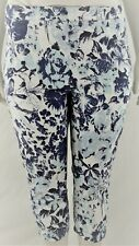 Womens` Stretch crop, denim print plus size trousers sizes(14-28)