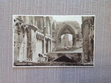 Vintage RPPC Postcard Glastonbury Abbey King George V Three Half Pence Stamp