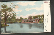 1905 post card Park Lake Albany NY to Florence Blackmon Mount Mt Vernon