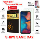 2-Pack Tempered Glass Clear HD Screen Protector  For Samsung Galaxy A10 A10E A20