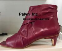 RARE NWT $119 ZARA SS17 Strawberry REAL LEATHER ANKLE BOOTS 2119/201