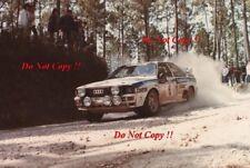 Franz Wittmann Audi Quattro A1 Portugal Rally 1983 Photograph 1