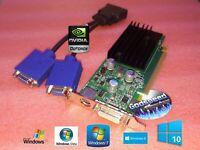 HP Compaq 8000 Elite SFF Small Form Factor GeForce VGA Dual Monitor Video Card