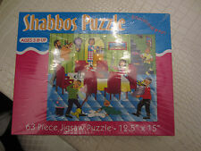 shabbos puzzle 63 piece jigsaw puzzle   12.5'' by 15''  item 1 # 631