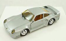 Vintage Revell Silver 1988 Porsche 959 1:24 Diecast Model Car