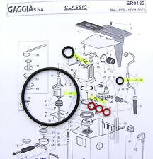 Gaggia Classic Baby Tebe Paros Evolution Etc 6x O Ring Repair kit Gasket