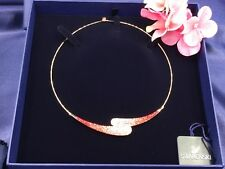 AUTHENTIC SWAN SIGNED SWAROVSKI LOUISE MULTI PINK COLLAR NECKLACE 1084584