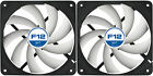 2 Pack Arctic Cooling F12 120mm Case Fans 1350 RPM (AFACO-12000-GBA01) AC Artic