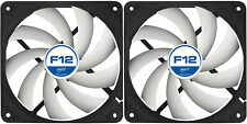 2 x Arctic Cooling F12 120mm Case Fans 1350 RPM (AFACO-12000-GBA01) AC Artic