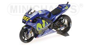 MINICHAMPS 122 173046 YAMAHA YZR-M1 model bike V Rossi MotoGP 2017 1:12th scale