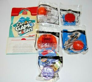 Complete Set of 5 and Bag Wendy's Family Game Night Kids Meal Toys