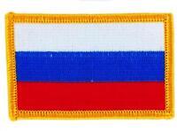 Patch écusson brodé Drapeau RUSSIE RUSSE  FLAG Thermocollant