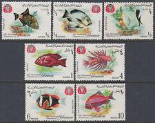 Yemen Kgr 1967 ** Mi.323/29 A Fische Fishes Tiere Animals Fauna
