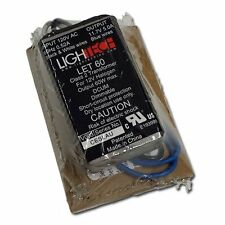 LIGHTECH LET-60 ELECTRONIC TRANSFORMER 110V TO 12V 60W MAX OUTPUT