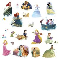 Disney PRINCESS DREAM BIG 22 Peel & Stick Wall Decals Cindrella Stickers