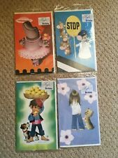 4 Vintage Birthday Cards - New & Sealed - 1970's