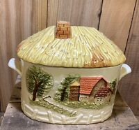 SEARS ROEBUCK 1981 CANISTERS Soup Tureen VTG FARM COUNTRY Yellow