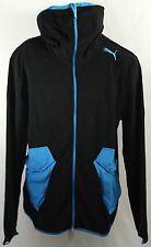 Puma Tech Fleece Jacke mit Kapuze Hooded Hoodie Winter Fleecejacke schwarz  L/XL