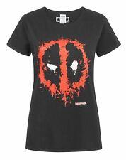 Marvel Deadpool Splat Mask Logo Women's T-Shirt