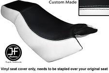 BLACK WHITE VINYL CUSTOM FOR KYMCO CK PULSAR 125 OLD SHAPE DUAL SEAT COVER ONLY