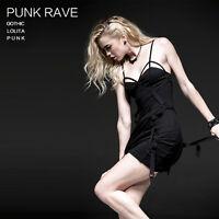 NEW Punk Rave Rock Gothic Black Sexy Cotton Dress Q-228 ALL STOCK IN AUSTRALIA!