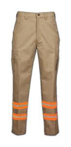 NEW Reflective Cargo Pocket Safety Hi Vis Work Pants Industrial Uniform Towing