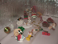 23 piece Lot of Mixed Vintage & Modern Christmas Ornaments