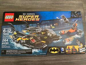 LEGO Super Heroes 76034 The Batboat Harbor Pursuit 100% Complete