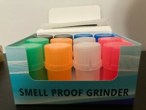 herb Grinder + Container Spice Plastic color.
