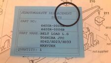 Cintura carico CD/DVD TOSHIBA SD42/SD23/SD33+JVC+L. G + Philips