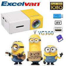 LCD LED Projector Portable HD 1080P Home Theater HDMI AV/USB For Smartphone PS4
