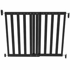 Noma Cancello sicurezza estensibile 63 5-106cm in legno Nero Cancelletto Bimbi