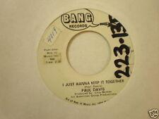 Paul Davis Bang 579 Pollyana and I Just Wanna Keep it
