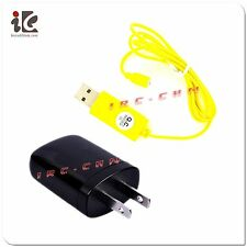USB WALL PLUG + CHARGER CABLE FOR SYMA S107 S107G S026 S026G RC HELICOPTER PARTS