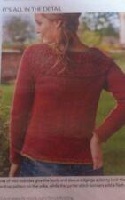 "Knitting Pattern Ragazze Donna Ruvido Giogo Maglione Pullover 4 mm Dk Lana 32"" -46"""