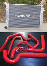FOR HOLDEN Commodore VS V6 3.8L AT/MT Aluminum Radiator + BLUE Silicone Hose
