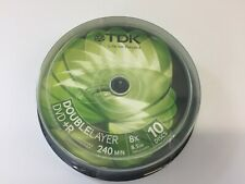 Genuine TDK DVD+R Double Layer 8.5GB 8x Speed 240mins 10 Packs Dual Layer NEW