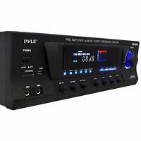 NEW Pyle PT270AIU300W Stereo Receiver W/ iPod Dock AM/FM Tuner USB SD Input