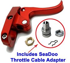 Seadoo Finger Throttle Lever CNC Billet Red & Sea-Doo Throttle Cable Adapter